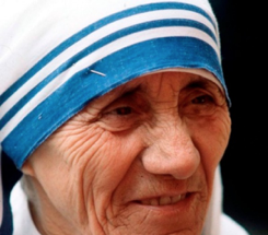 Mother Teresa learned English as a missionary and teacher in Ireland before founding the Sisters of Charity in India.