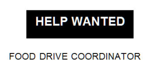 hellp-wanted-food-drive-coordinator