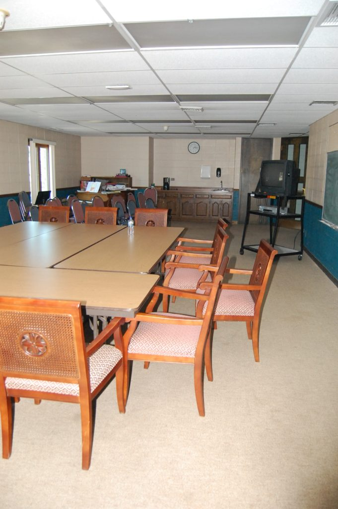 There is one designated meeting room on campus for 88 ministries. It is outdated and needs remodeling.